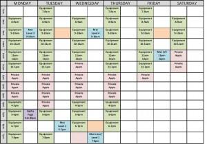 Victoria Pilates Schedule